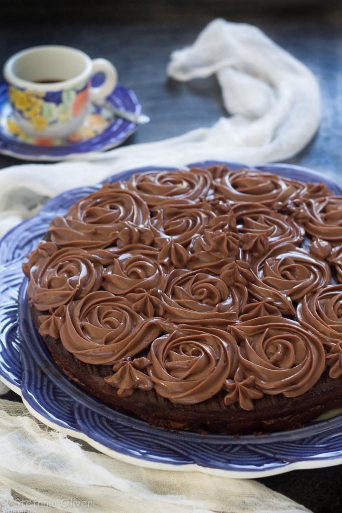 Torta con crema alla Nutella e mascarpone senza glutine-9797