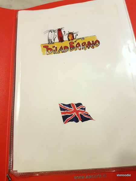 Trattoria Diladdarno English menu cover