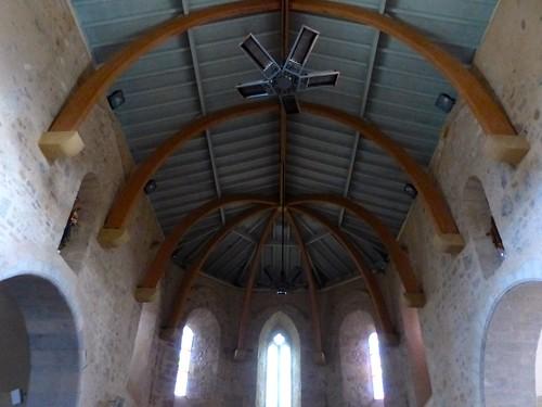 Sames, Pyrénées-Atlantiques: église de l'Assomption-de-la-Bienheureuse-Vierge-Marie, en partie du XIV°.