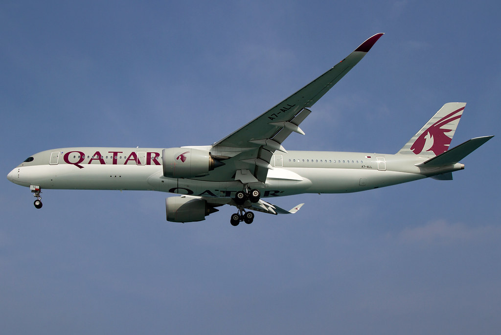 Short final for RWY36 inbound from Doha DOH. Delivered 11/2016.