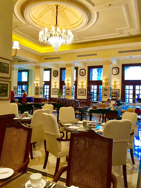 Imperial Hotel, an early breakfast
