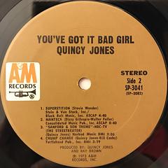 QUINCY JONES:YOU'VE GOT IT BAD GIRL(LABEL SIDE-B)