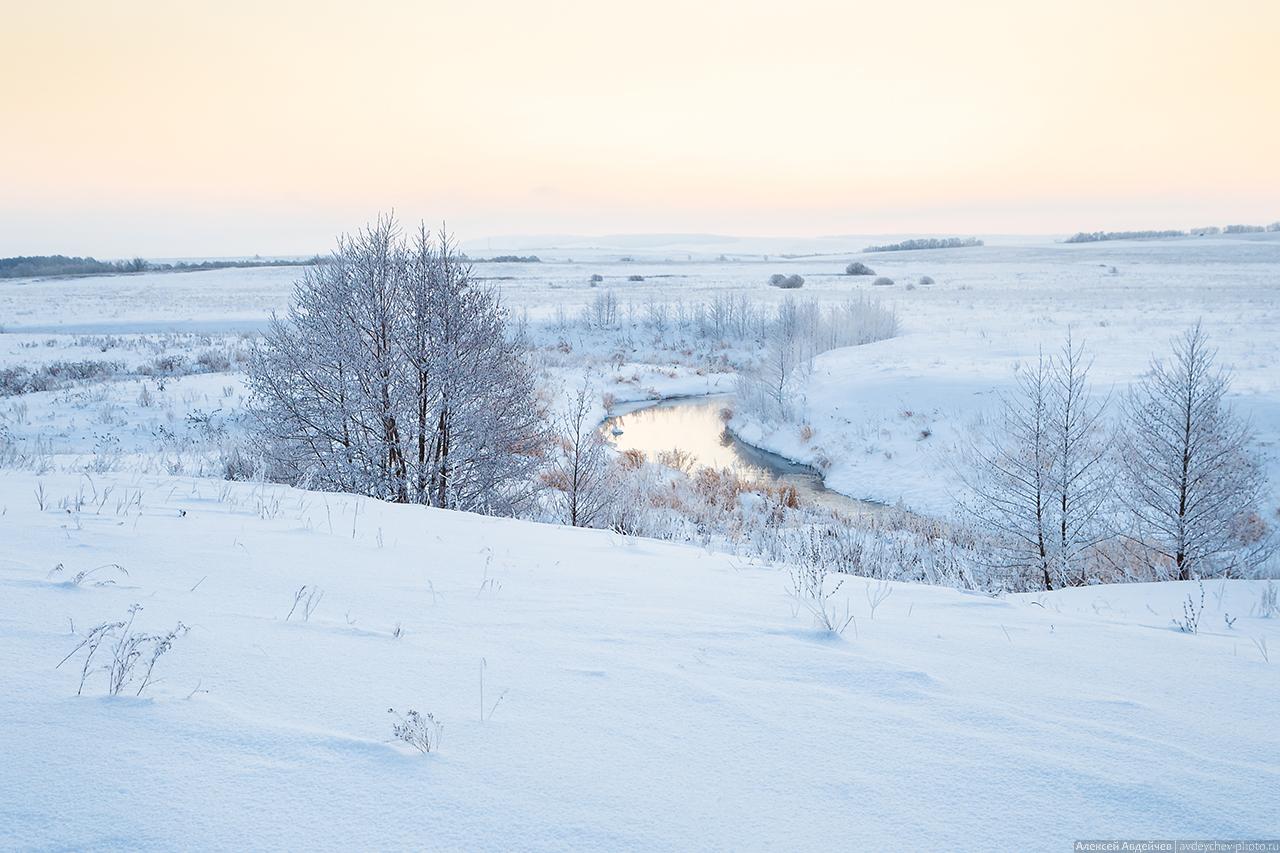 Река Шунгут зимой