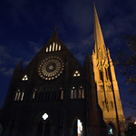 St Walburge's at night