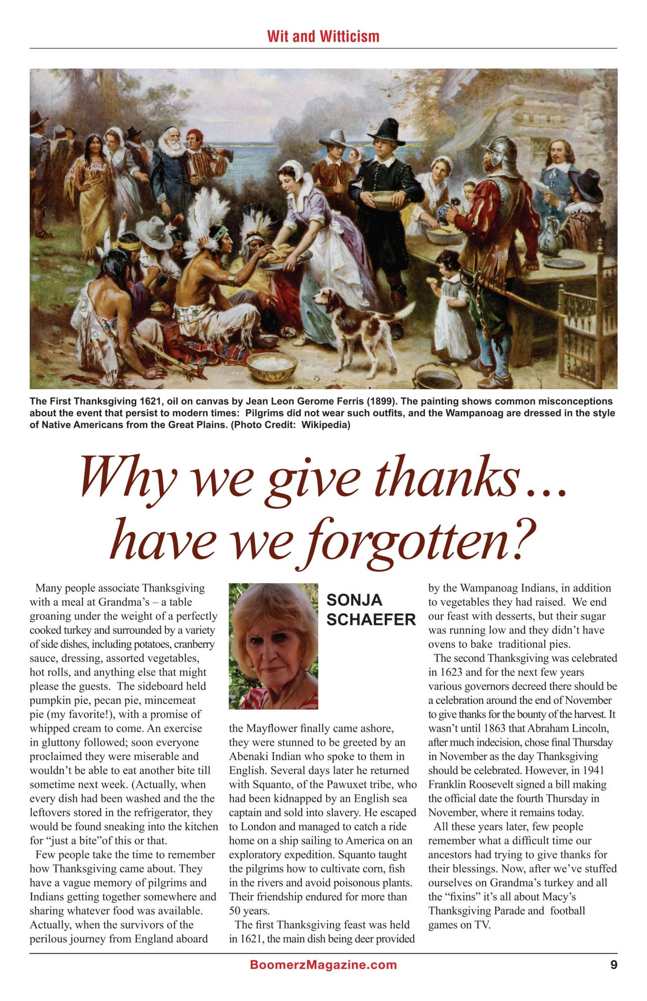Boomerz Magazine 2018 November Why we give thanks have we forgotten