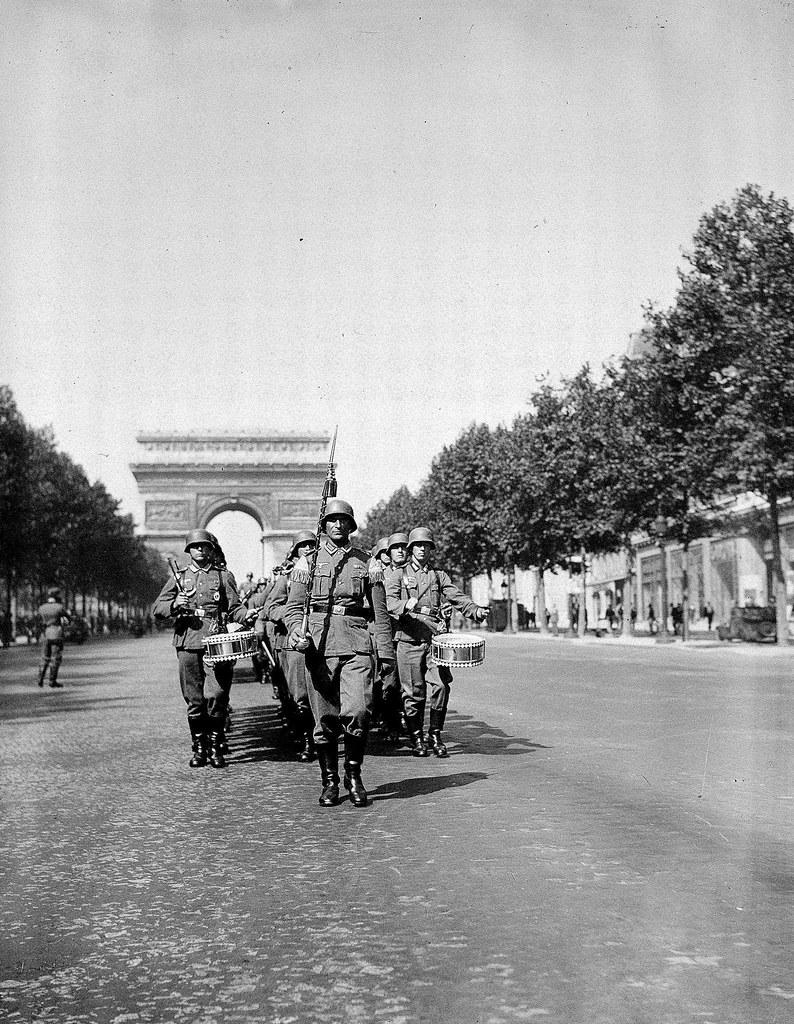 1940. Немецкий парад на Елисейских полях, сентябрь