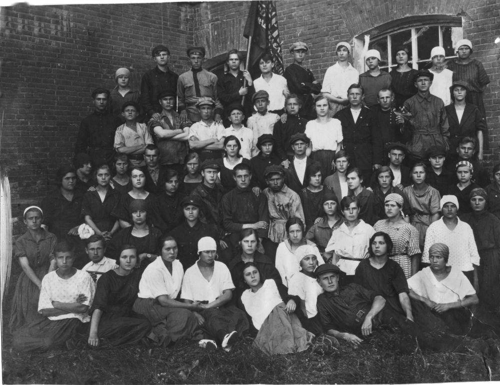 1922 г. Комсомольская организация ткацкого цеха фабрики