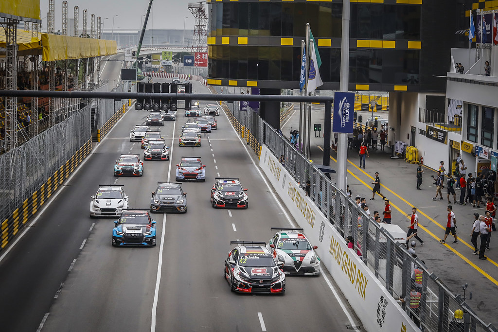Start race 2 during the 2018 FIA WTCR World Touring Car cup of Macau, Circuito da Guia, from november  15 to 18 - Photo Francois Flamand / DPPI