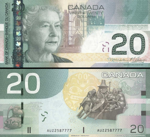 20 Dolárov Kanada 2004-11 P103