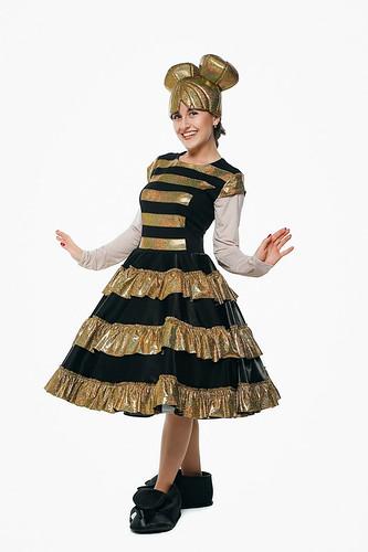 Женский карнавальный костюм Королева пчелка