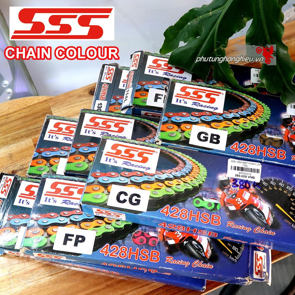phutunghanghieu.vn, phụ tùng hàng hiệu, sên xe máy, xích xe máy, NSD, Nhông sên dĩa, sên SSS, sên màu SSS, nhông sên dĩa SSS, sên SSS 10ly, nhông sên dĩa SSS chính hãng, nhông sên dĩa SSS Racing, nhông sên dĩa SSS cho Winner, nhông sên dĩa SSS cho Exciter.