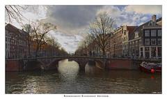 A canal bridge in Amsterdam.