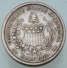 Confederate Half Dollar reverse