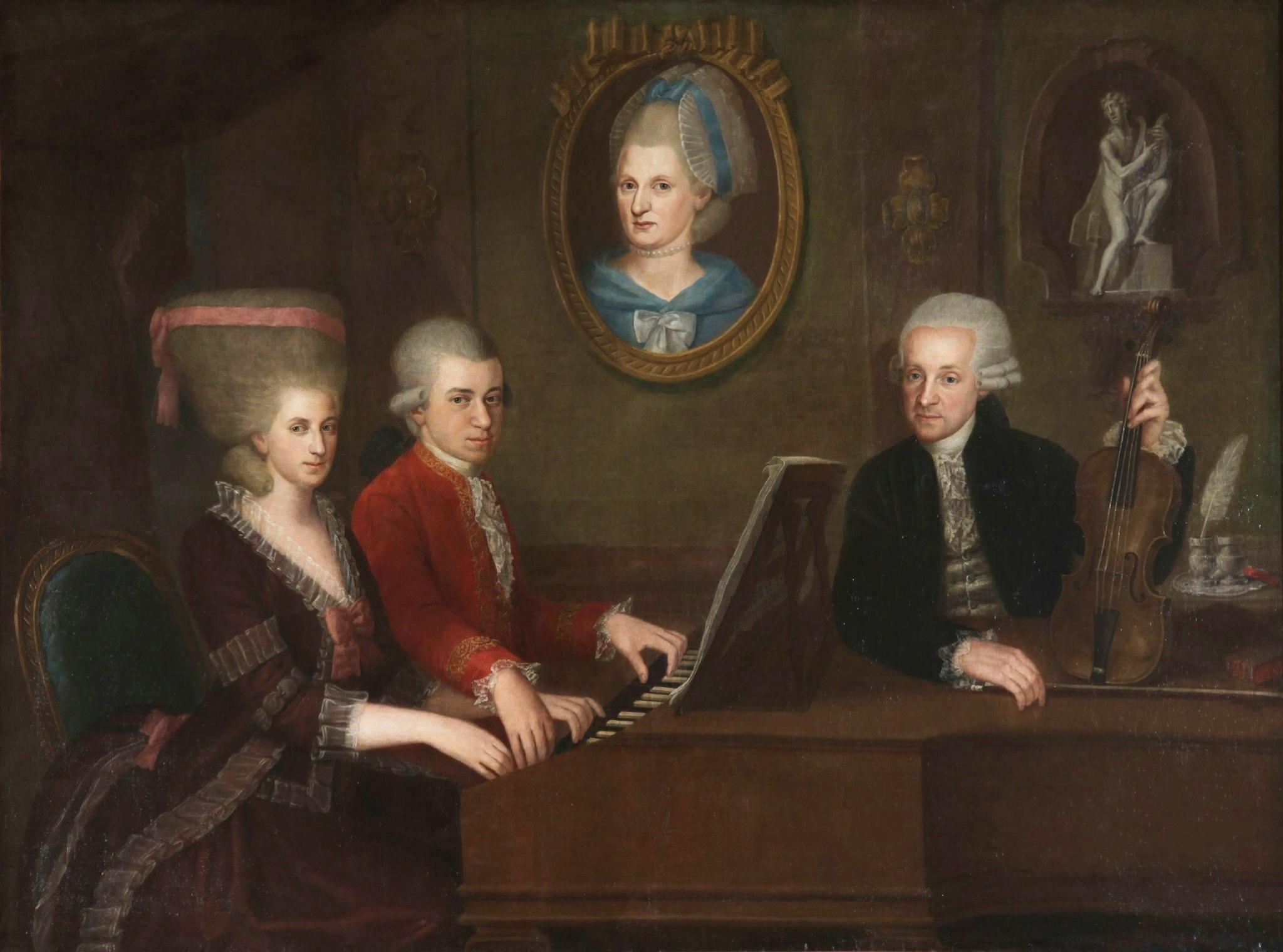 Family portrait, circa 1780: Maria Anna (