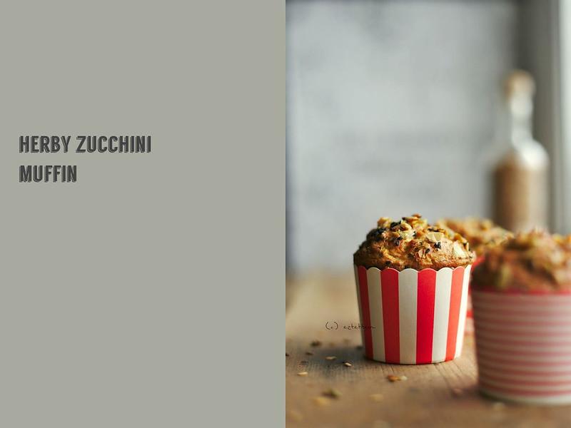 herby zucchini muffin
