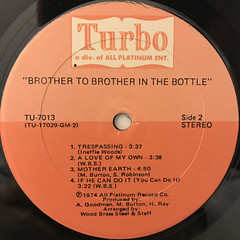 BROTHER TO BROTHER:IN THE BOTTLE(LABEL SIDE-B)
