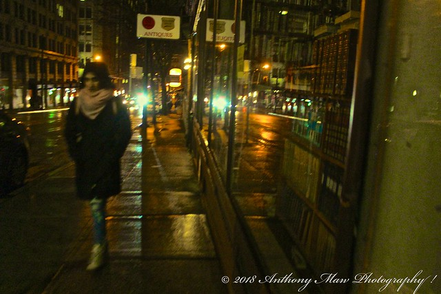 Richards Street Rainy Night, Canon EOS REBEL SL1, Canon EF-S 18-55mm f/3.5-5.6 IS STM