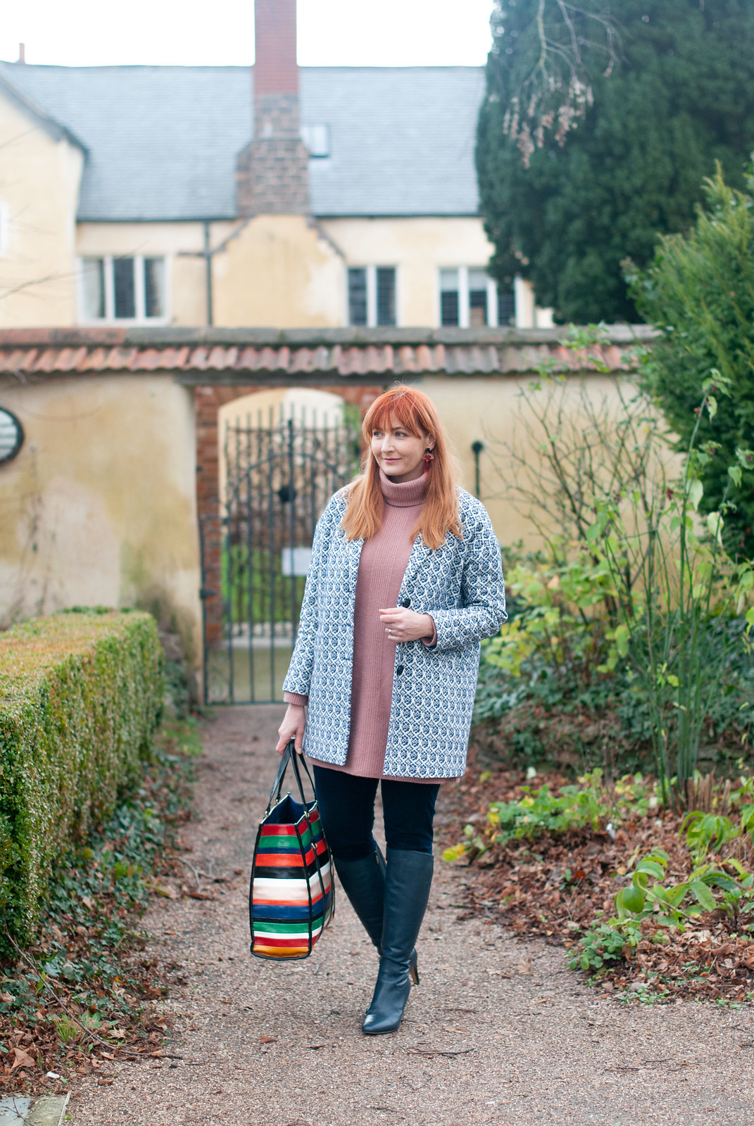 A Modest Way to Wear a Sweater Dress and Knee High Boots |Z Not Dressed As Lamb, over 40 fashion