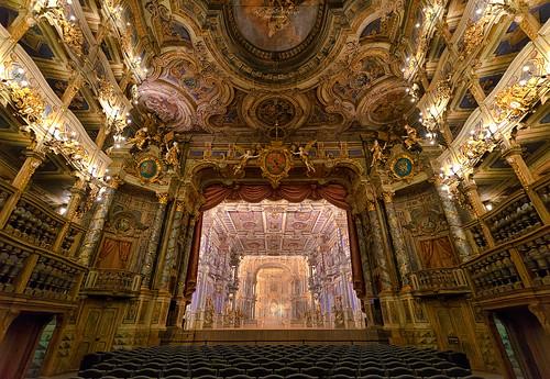 Markgräfliches Opernhaus Bayreuth, Bühne (UNESCO World Heritage)