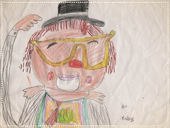 I am delighted to have this amazing drawing of Jeca the Clown from Hailey huni!! To get your drawing shown here can be done in three easy steps: 1- Make a beautiful,colorful drawing of me. 2-Sign you name at the bottom of the drawing 3- Send it to me on.