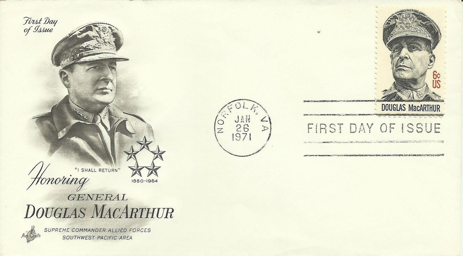 United States - Scott #1424 (1971) first day cover, ArtCraft cachet