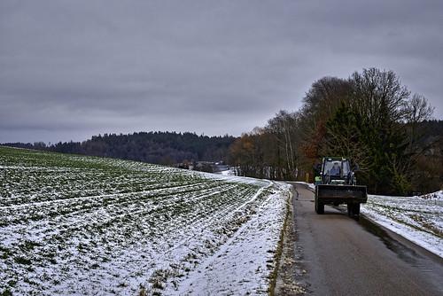 Mit dem Traktor unterwegs