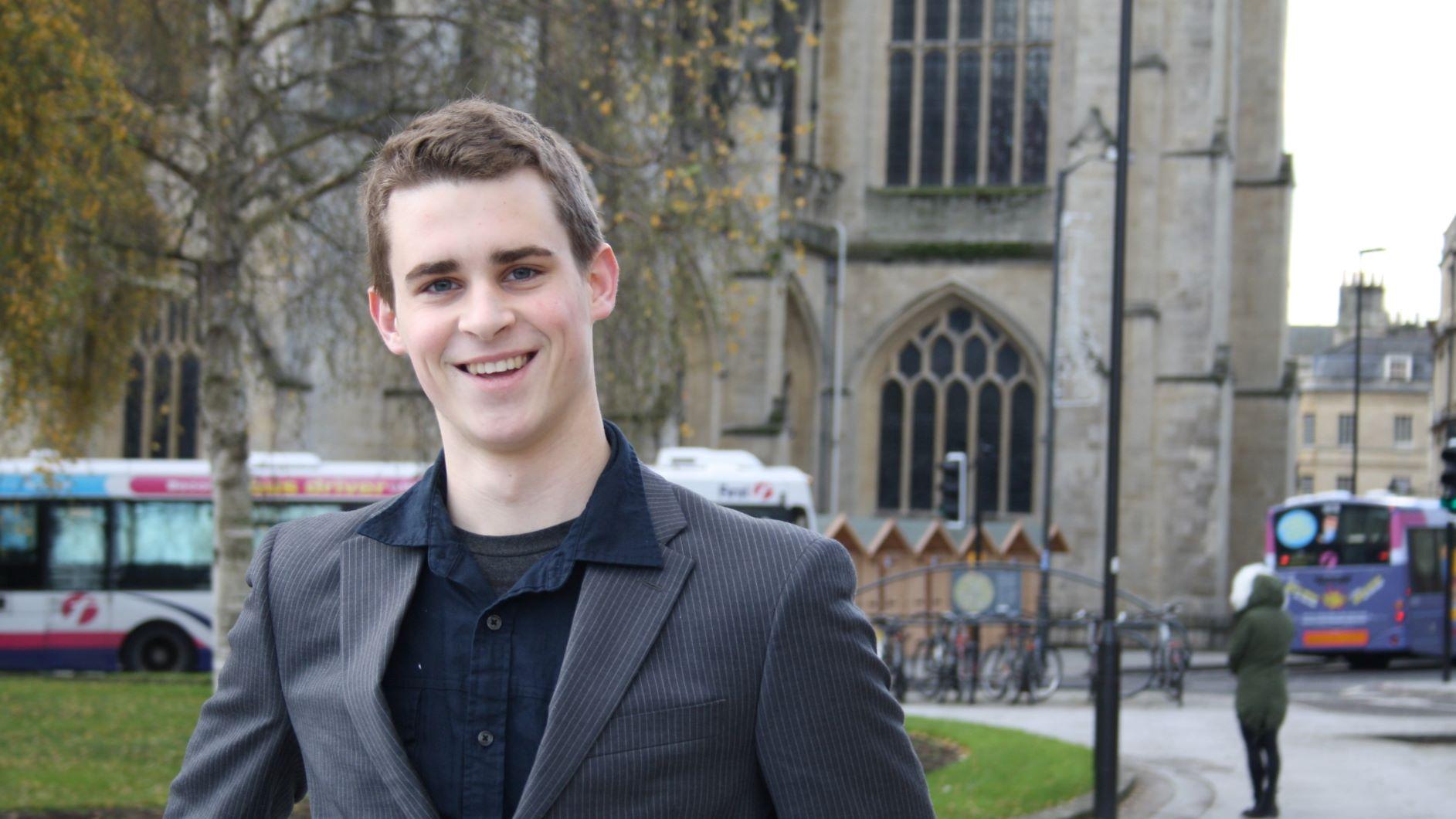 Computer Science graduate and Bath entrepreneur Ashton Clapp