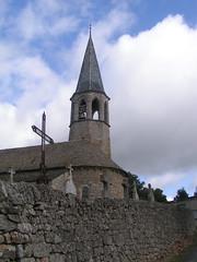 20080907 31808 1008 Jakobus La Chaze de Peyre Kirche Glocke Turm Steinmauer - Photo of Prinsuéjols