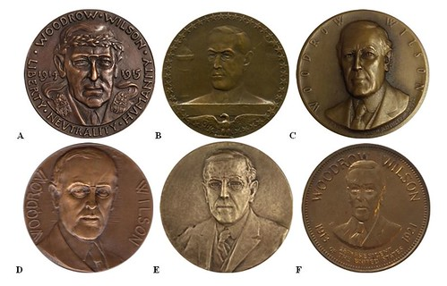 Woodrow Wilson medal contest obverses