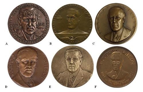 Woodrow Wilson medal contest obverses