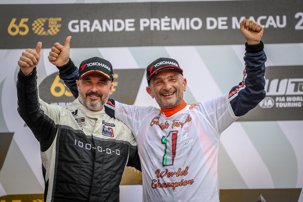 MULLER Yvan, (fra), Hyundai i30 N TCR team Yvan Muller Racing, portrait, TARQUINI Gabriele, (ita), Hyundai i30 N TCR team BRC Racing, portrait during the 2018 FIA WTCR World Touring Car cup of Macau, Circuito da Guia, from november  15 to 18 - Photo Alexandre Guillaumot / DPPI