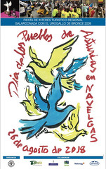 cartel fiesta Día de los Pueblos de Asturias