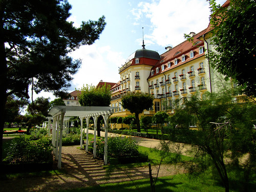 Garden of Sofitel Grand Hotel in Sopot