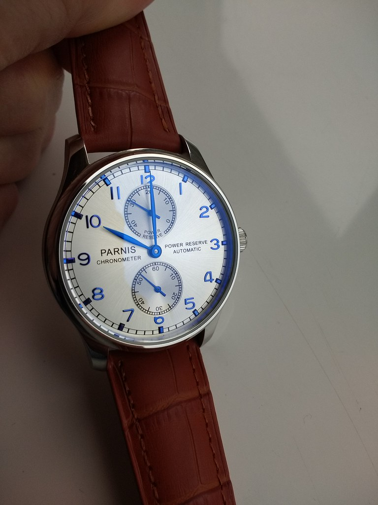 Parnis 43mm Small Second Power Reserve Automatic PA767 (Sea-Gull 2542) (2)