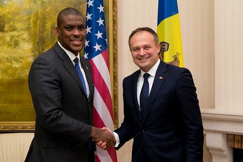 07.11.2018 Întrevederea președintelui Andrian Candu cu Dereck J. Hogan, Ambasadorul SUA în Republica Moldova