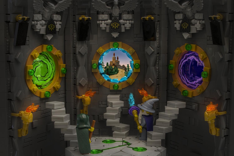 lego moc wizard portals