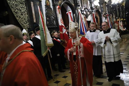 37. rocznica ogłoszenia stanu wojennego   Abp Marek Jędraszewski, Katedra na Wawelu, 13.12.2018