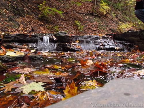 The ledges in Barnes Creek, Onanda Park in the Finger Lakes of New York