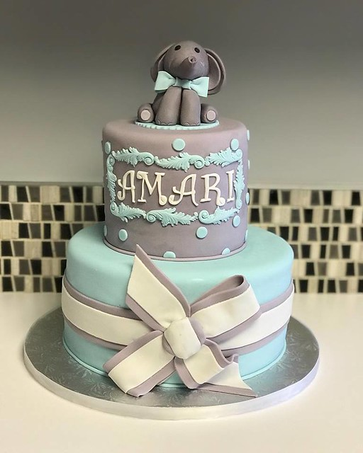 Baby Shower Cake by Pink Petal Cakes