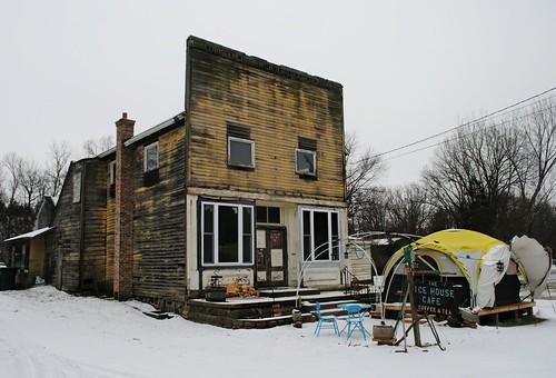 Old building in Bassett, Wisconsin