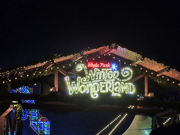 entrée de Winter Wonderland