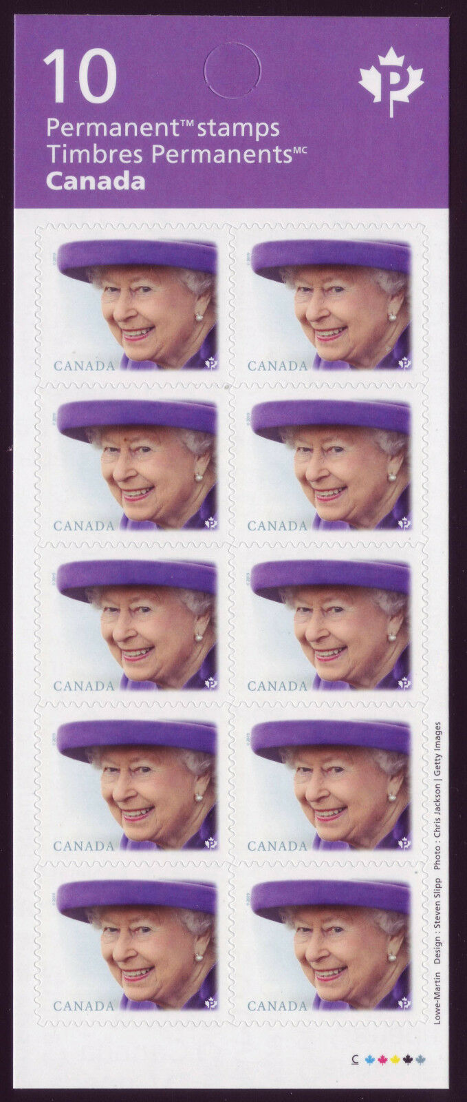 Canada - Queen Elizabeth !! definitive stamp (January 14, 2019) booklet of 10