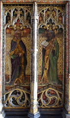 rood screen (north): St James the Less and St Thomas (15th Century)