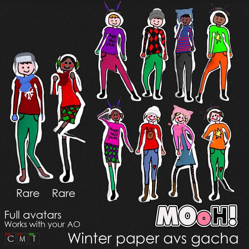 MOoH! Winter paper avs gacha
