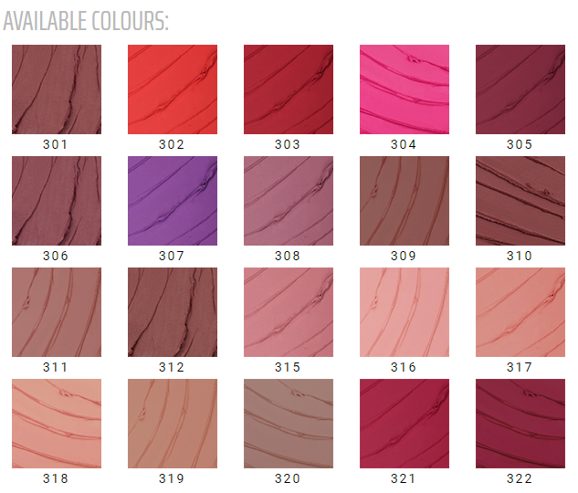 Inglot lipsticks color