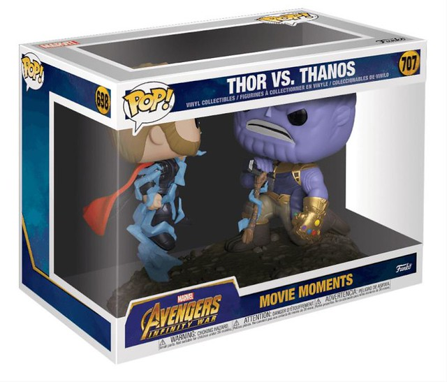 Funko Pop! Marvel: Movie Moments《復仇者聯盟3:無限之戰》索爾 vs. 薩諾斯 & 無限手套 Thor vs. Thanos & Gauntlet Dome