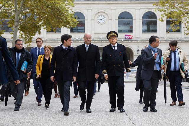 Déplacement de Jean-Michel Blanquer dans un collège à Nîmes