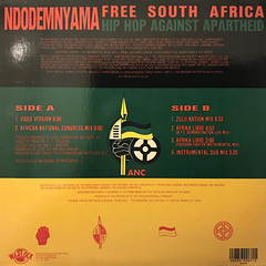 HIP-HOP AGAINST APARTHEID:NDODEMNYAMA(FREE SOUTH AFRICA)(JACKET B)