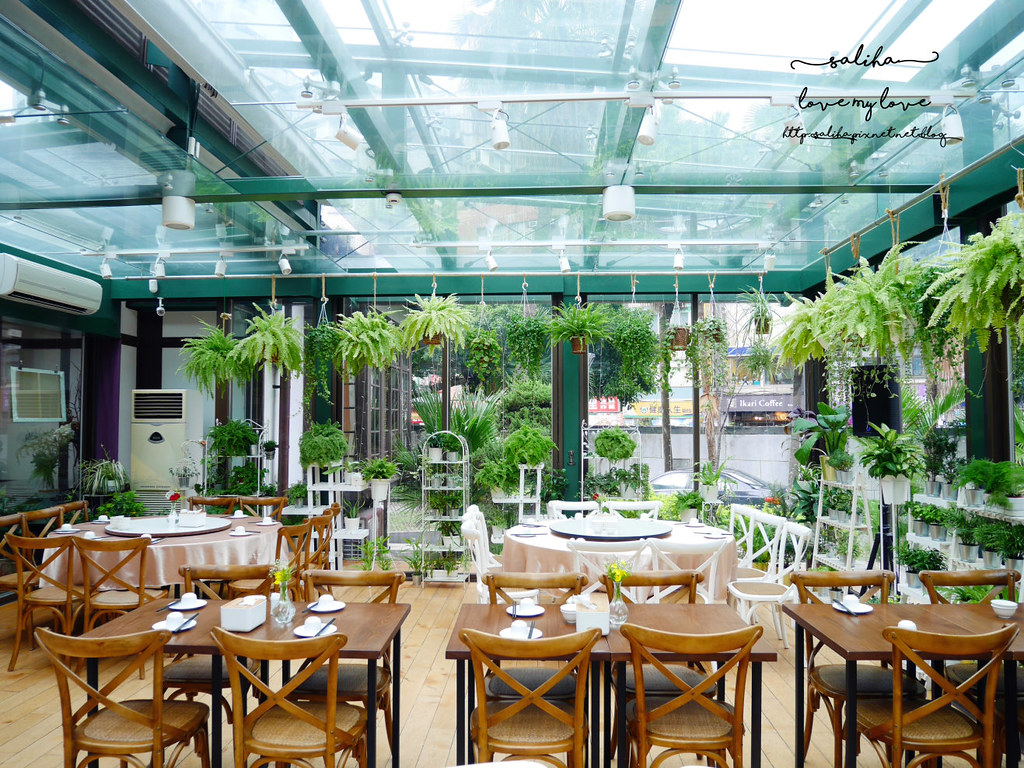 台北古亭站附近絕美玻璃屋植物系浪漫約會餐廳推薦陸聯廳 (4)