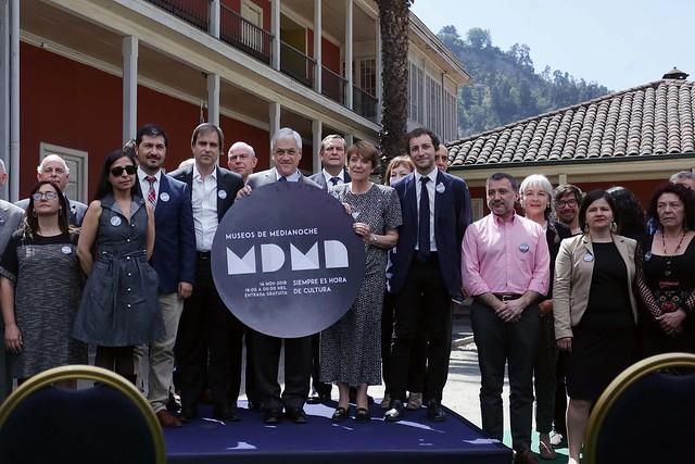 Presidente Piñera y Ministra Valdés en lanzamiento MDMN 2018